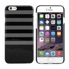 Proporta Negro Con Gris A Rayas Hard Shell Funda para 4.7 Pulgadas Apple Iphone 6 6s