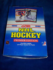 Box of 1990-91 Score Hockey cards - 36 packs / 15 cards per pack