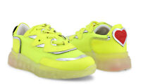 LOVE MOSCHINO Women's Sneakers Shoes in Yellow & Silver