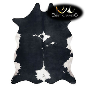 AMAZING artifical Cowhide Rug Animal Cow printed black white Large size Carpet