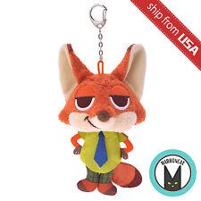 Japan Disney Store Nick Wilde Fox Zootopia Mocchi Soft Plush Keychain Mascot US