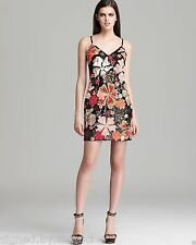 French Connection Aloha Large Full Floral Sequin Cami Strap Party Dress  8 36