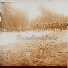 Fontainebleau Défilé militaire du 14 Juillet 1909 Stereo Verre R2 Positive
