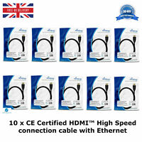 10 HDMI™ High Speed Connection Cable with Ethernet GoldPlated Contacts 10.2 Gbit