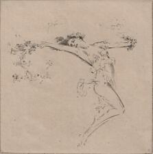 TROY KINNEY (1871-1938) Signed Etching DANCING FIGURE c1910