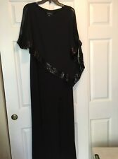 R & M Richards Black Long dress Ladies Women's  Size 6 NWT