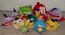 Angry Birds Plush Lot Purple Space Lazer Red Matilda Jay Hal Green Pig Chuck