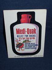 Wacky Pack Medi-Quak Sticker Series Seven 1974 Tan Back