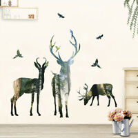 Removable Wall Stickers Deer Forest Art Vinyl Decals Mural Room Decor