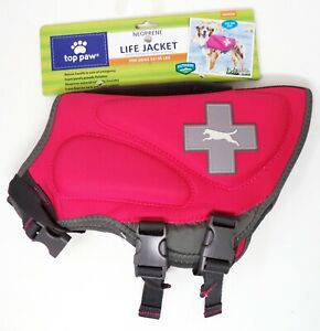 TOP PAW Dogs 30-55 lbs Hot Pink Neoprene Life Jacket (M) (NEW)