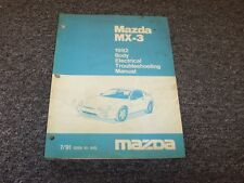 1992 Mazda MX3 Hatchback Body Electrical Wiring Diagram Manual GS