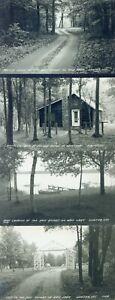 RPPC - Joe Ross' Resort - Bass Lake - Winter, Wisconsin - 5 vintage postcards