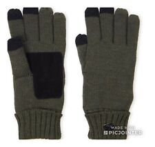 Pajar Canada Military Green Knit Touchscreen wool blend suede Gloves NWT$50.00