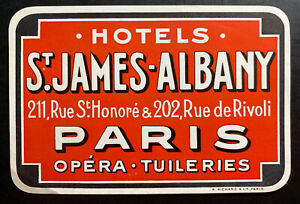 Mint Air Baggage Label Tag Hotel St James Albany Paris France 1