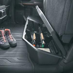 2019-2022 Silverado Sierra Crew Cab Underseat Storage Box 84734683 Black OEM GM