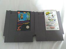 2 NES Games. Gumshoe and Kick Off