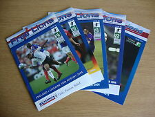 5 Different Issues of Free Lions Fanzine 2 Homes +3 Aways EXCELLENT. FREE UK P&P