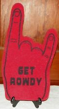 VTG Rowdy Roddy Piper Red Foam Finger Wrestling Rage on the Stage WWF WCW WWE