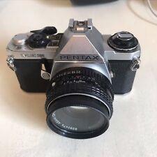 Pentax ME Super 35 mm Film Camera + SMC Pentax-M 1:2 50 mm Lens
