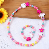 Children Jewelry Colorful Beads Girls Necklace for Festival Birthday Party