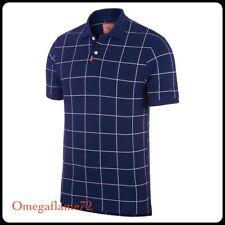 Nike Dri-Fit Grid Golf Polo Shirt, Sz Medium, AV5238-492, Blue-White