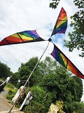 Riesen Windrad XL Rainbow Höhe 4,60m  Ø3m SolarMax Polyestertuch Fiberglasstab