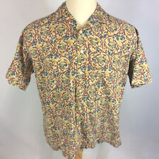 Rare Vtg 80s 90s Polo Ralph Lauren Cotton Loop Collar Hawaiian Abstract Shirt L