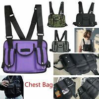 Noir Chest Rig Waist Bag Hip Hop Street wear Fonctionnel Tactical Chest Bag VS