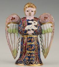 UNIQUE CHINESE CLOISONNE ENAMEL PENDANT STATUE ANGEL OLD HANDMADE CRAFTS GIFT