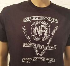 Narcotics Anonymous - NA Service & Slogans T-Shirt - blk or white 100% cotton