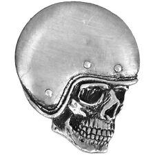 Pin's Biker épinglette Skull tete de mort casqué custom blouson gilet crane moto