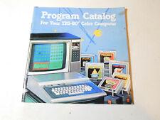 TRS-80 Tandy Coco color computer Program Catalog