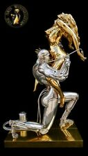 Bronze Sculpture Figure Techno Lover Statue luxuryinterior Erotic Robot