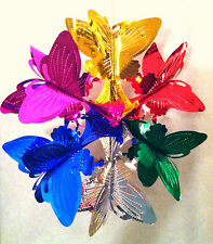 3D Dimensional Foil Hanging Butterfly Design for Christmas Holiday Party
