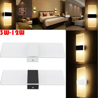 Modern 3W 6W 12W LED Wall Light Up Down Cube Indoor Sconce Lighting Lamp Fixture