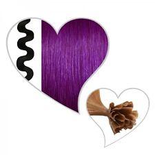 25 ondulé mèches # violet,55 cm,cheveux véritable-premium ondulé,violet
