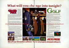 Microprose Simulation Software 1991 Double Page Magazine Advert #5814
