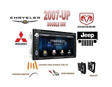 2007-UP CHRYSLER DODGE  JEEP Touchscreen Bluetooth DVD USB AUX Stereo Combo Kit