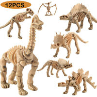 12PC Dinosaur Fossil Figures Toy Dinosaur Animal Model Educational Toy Gift