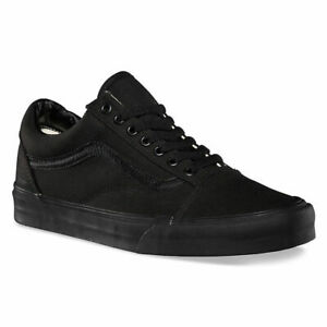 VAN Old Skool Skater Classic Canvas Sport Running Sneakers Trainers All Black OS