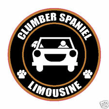 "LIMOUSINE CLUMBER SPANIEL 5"" DOG STICKER"