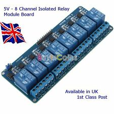 5V 8 CHANNEL ISOLATED RELAY- Suit - ARDUINO- RASPBERRY Pi - Pic Etc.