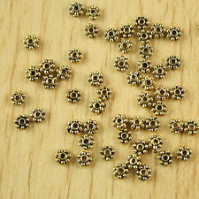 100pcs dark gold-tone daisy flower spacer beads h2286