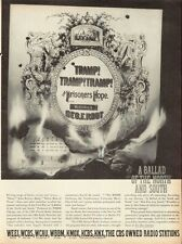 """1961 Cbs Owned Radio Stations Print Ad """"A Ballad of the North and South"""" Record"""