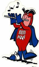 Budweiser Budman Patriot Marching Flute Bicentennial Decal Sticker New NOS 1976