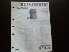 Original Service Manual Schaltplan Sony TCM-81/83/87