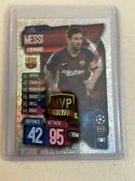 2019-20 Topps LIONEL MESSI Match Attax Silver Pulsar MVP SP Soccer Card