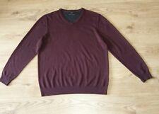Jeff Banks Men's Burgundy Purple Sweater Long Sleeve Fine Knit Top size L