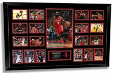 JAMES HARDEN HOUSTON ROCKETS SIGNED PHOTO LIMITED EDITION FRAMED MEMORABILIA