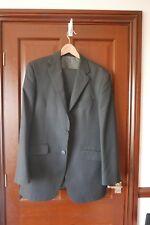 M&S Men's Suit, Size 38L, Dark Grey Pinstripe, trousers W34/L33